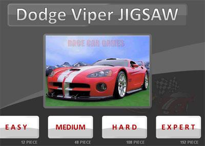 لعبة تركيب صور سيارة دودج فايبر