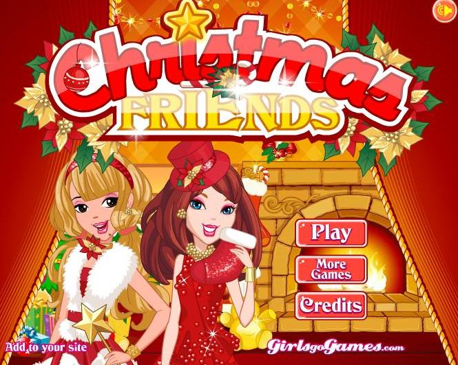 09d805484 لعبة تلبيس ازياء صديقات عيد الميلاد