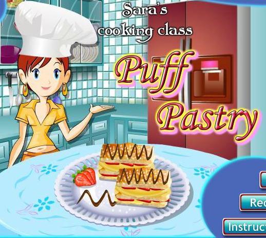 c6bb560ac لعبة تعليم البنات طبخ البف باستري مع سارة خطوة بخطوة