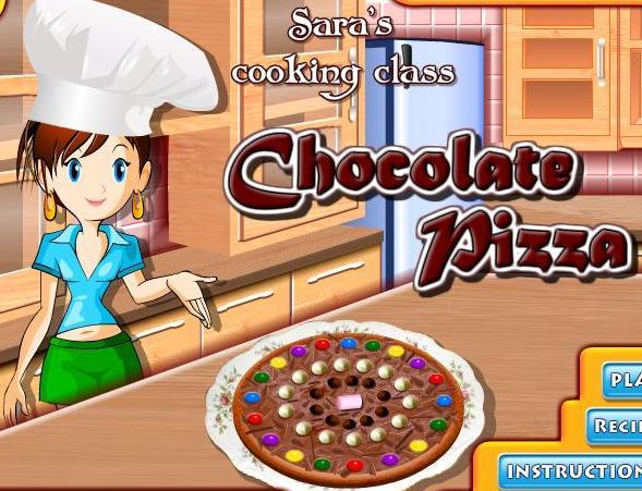cf3711150 لعبة تعليم البنات طبخ بيتزا الشوكولاته مع سارة خطوة بخطوة