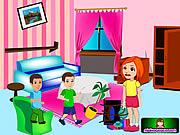 لعبة تنظيف منزل ميسي | Messy House