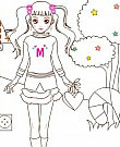 Mimi barbie Colouring Paint game
