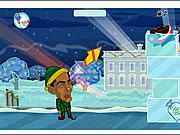 obama vs santa shooting snow game