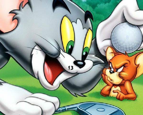 لعبة الارقام المخفيه في صور توم وجيري