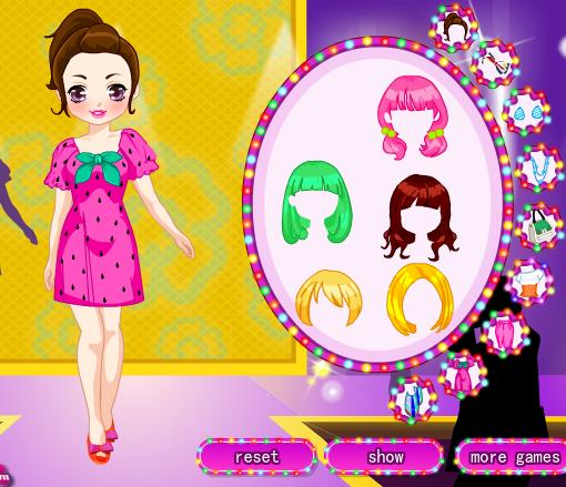 لعبة تلبيس | 2012 collision color clothes show dress up game