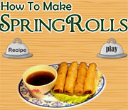 how to make spring rolls a game flash free online for girls