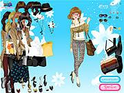 لعبة تلبيس ملابس جلد النمر | leopard print fashion dresses