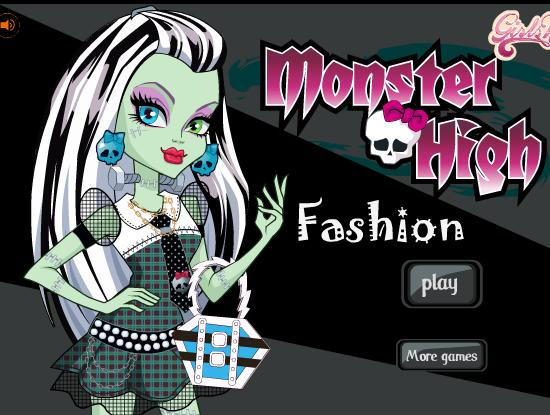 لعبة بنات تلبيس 2012 | monster high scary fashions dress up game