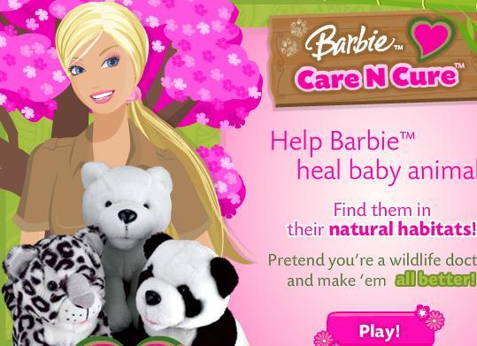 لعبة باربي البحث والرعاية والعلاج