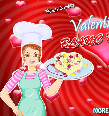 princess barbie cooking valentine blancmange game online 2013