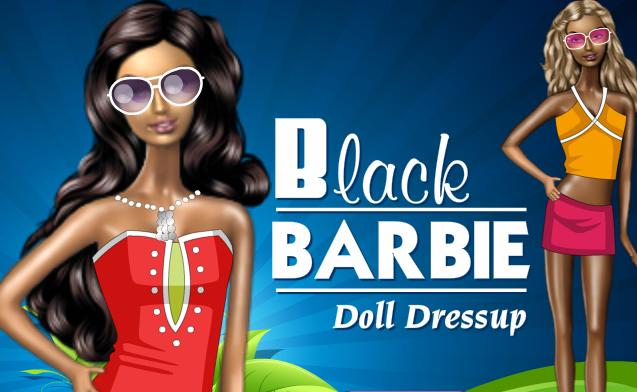 princess black barbie doll dress up game online 2013