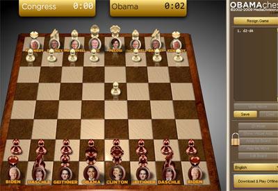 لعبة شطرنج الرئيس أوباما