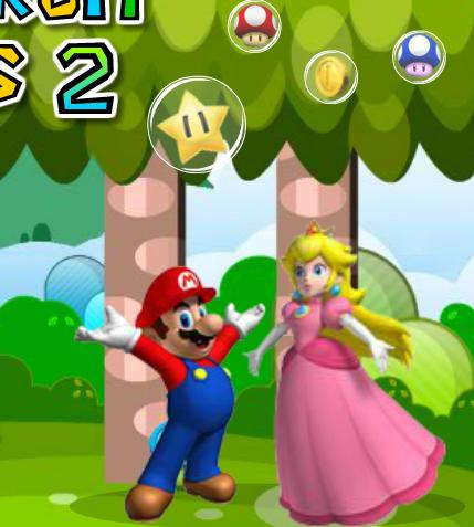 العب لعبة super mario fruit bubbles 2