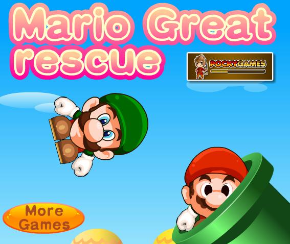 العب لعبة super mario great rescue