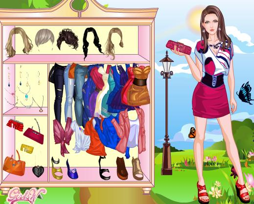 لعبة بنات تلبيس 2012 | walking among flower dress up game