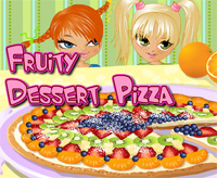 how to cook fruity dessert pizza game for girls free
