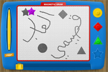 magnetic draw a drawing game online