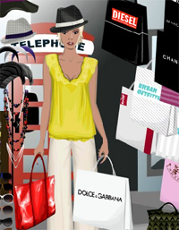 shopping in the city a game funny for girls free