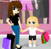 shopping with mom a game funny for girls free