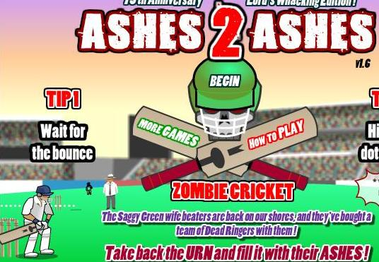 free online ashes 2 ashes zombie cricket game