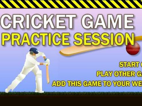 cricket game practice session online free to play