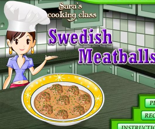 game for girls 2013 new sara cooking swedish meatballs recipe online