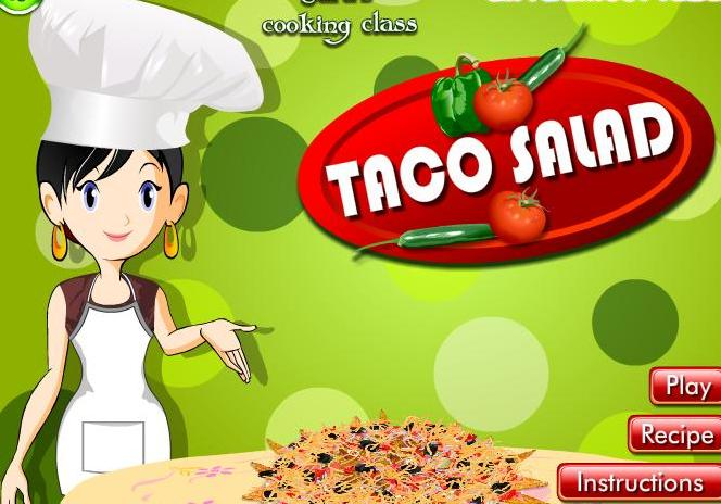 game for girls 2013 new sara cooking taco salad recipe online