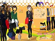 game girls black skirts dress up online