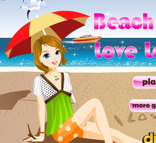 love in the sand girl beach dress up flash game