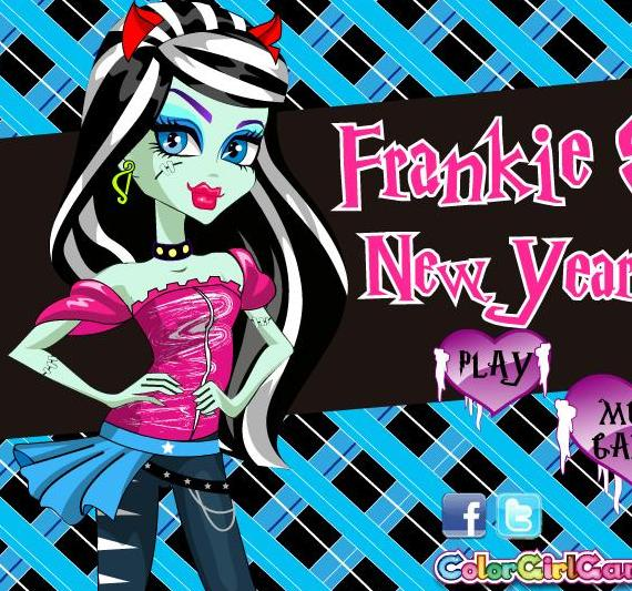 frankie stein new year style monster high dress up girls game
