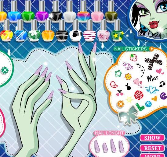frankie stein's manicure monster high game