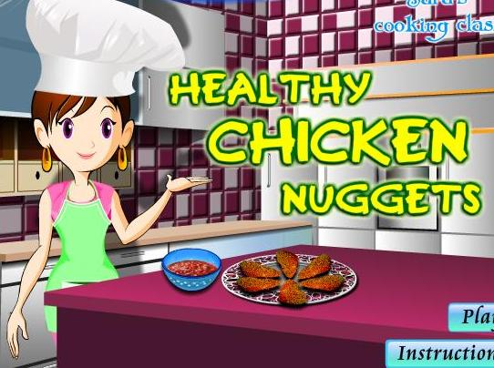 cooking healthy chicken nuggets recipe online