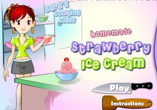 cooking homemade strawberry ice cream recipe online