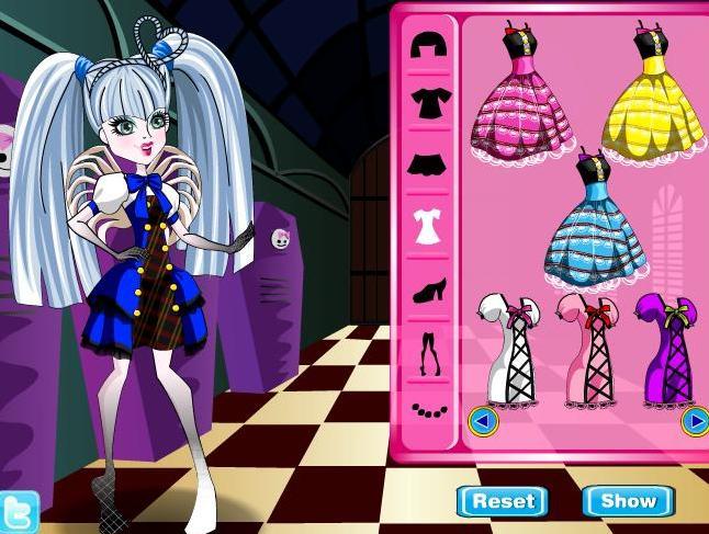 Monster High Ca Cupid Dress Up Girls Game