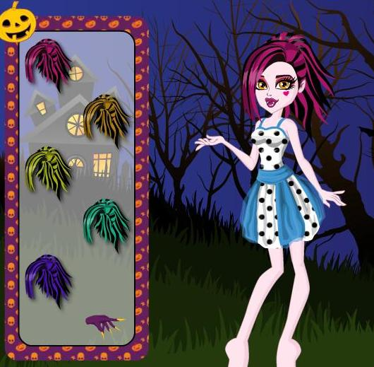 monster high draculauras halloween costumes dress up girls game - Free Halloween Dress Up Games