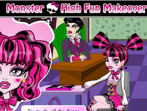 monster high fun makeover girls game