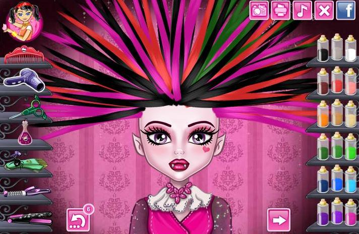 Monster high dress up hairstyle