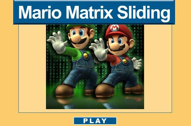 super mario matrix sliding game