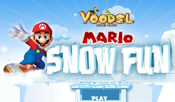 super mario snow fun game