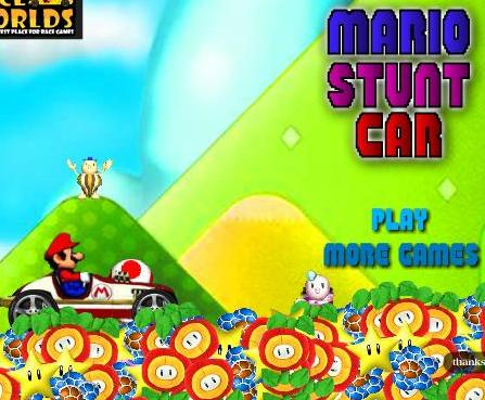 super mario stunt car game