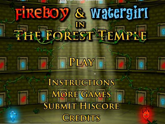 play the game fireboy and watergirl in the forest temple free online