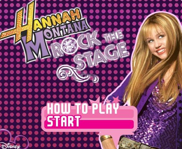 the game hannah montana rock out the show