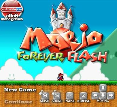 mario forever flash game online