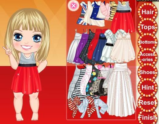 Miley cyrus style game dress up