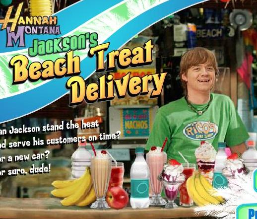 the game miley cyrus celebrity beach treat delivery food