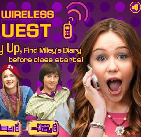 miley cyrus wireless quest game online