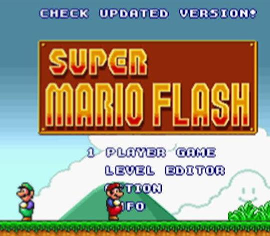 super mario flash game online