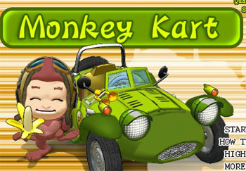 Monkey Kart game
