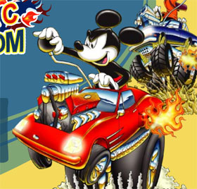 mickey mouse machine car game flash free online