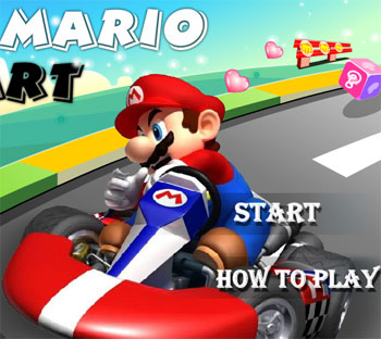 super mario kart car game flash free online